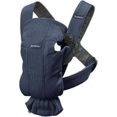 BABYBJORN Рюкзак-переноска MINI 3D MESH DARK BLUE