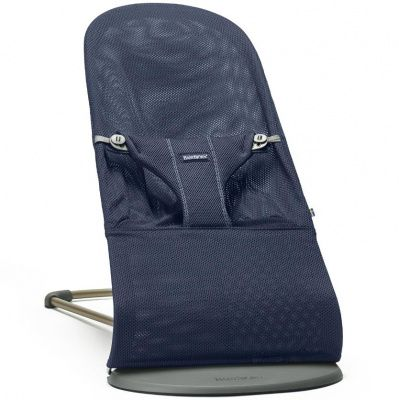 BABYBJORN Шезлонг BLISS COTTON DARK BLUE