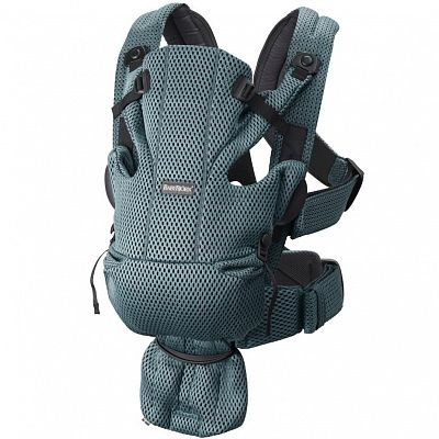 BABYBJORN Рюкзак-переноска MOVE 3D MESH GREY/GREEN