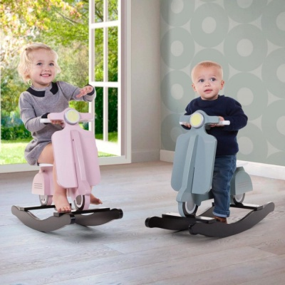 CHILDHOME Мотороллер-качалка ROCKING SCOOTER MINT BLUE/BLACK