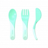 TWISTSHAKE Набор приборов LEARN CUTLERY PASTEL GREEN